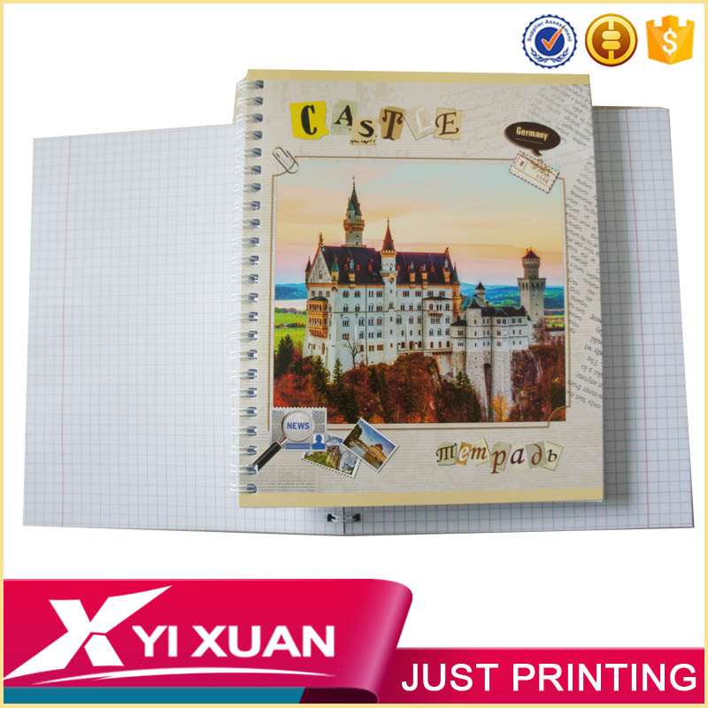 wholesale custom size college textbooks spiral notebook with color pages