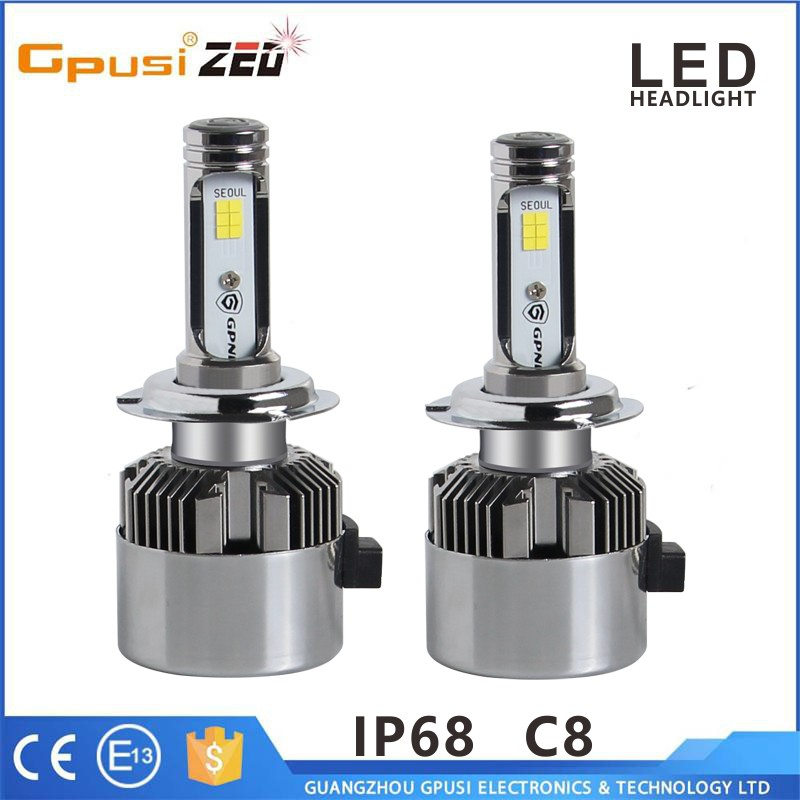 Newest Car Accessories C8 led headlight 12v, wholesales price led headlight bulb h4 h7 H1 H3 Hb4 H8 H9 H11 H13 9004 9005 9006