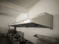 Stainless steel commercial Kitchen Exhaust Range Hoods for kitchen