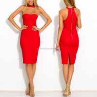 2016 latest red dresses wholesales women wear's sexy bodycon dress summer slim sexy woman night club dress
