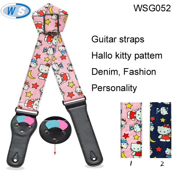 Hot sale Cartoon pattern guitar belt Whit guitar