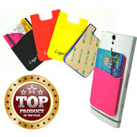 ST-new coming promotional gift silicone card holder for phone
