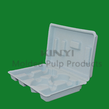 Accept custom order eco-friendly paper pulp clamshell biodegradable packaging box