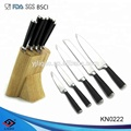 ABS handle kitchen knife sets with wooden knife block