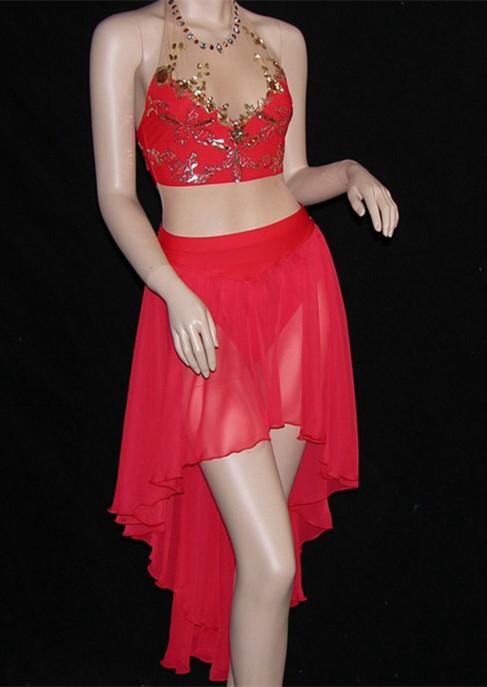 Beautiful modern style dance dress costume long ballet dress hsd2334