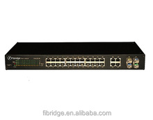 16 Port Fast Ethernet POE Managed Switch For Hikvision IP Camera/managed poe switch