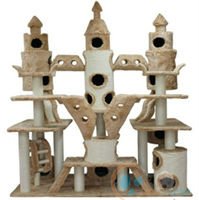 Tall Cat Tree with Scratch Sisal Post Soft Plush Bed