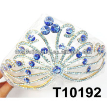 bulk large blue princess rhinestone tiaras