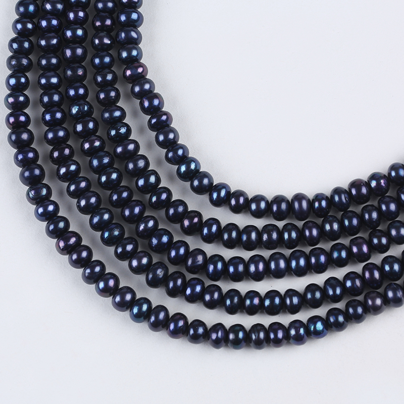 8-9mm Cultured Button Pearl Black color for making necklace