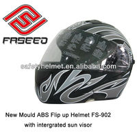 New motorcycle flip up helmet with ECE approval and intergrated sun visor FS902