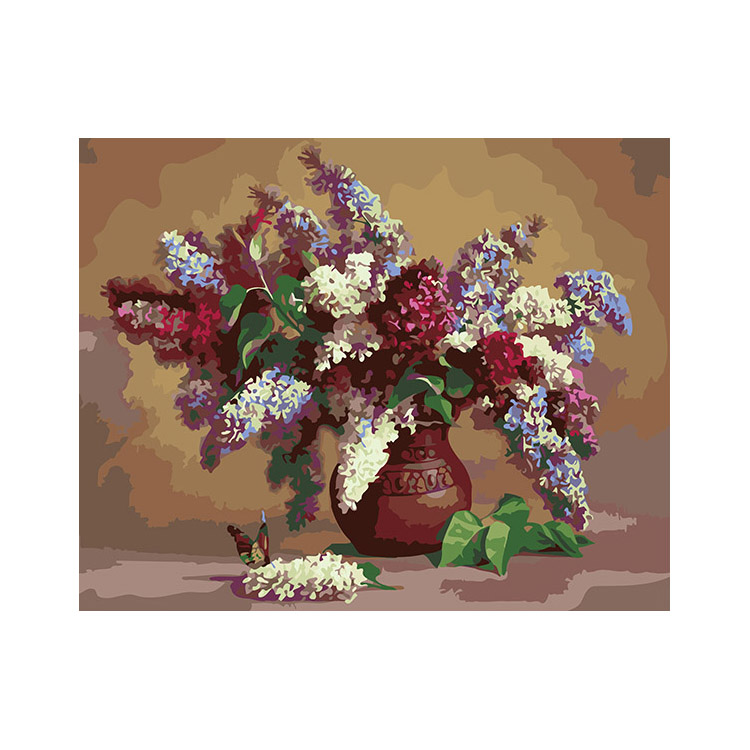 New arrival fashion oil painting pictures of flowers DIY digital painting