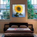 Handpainted Sunflower Flower wall art decorative painting
