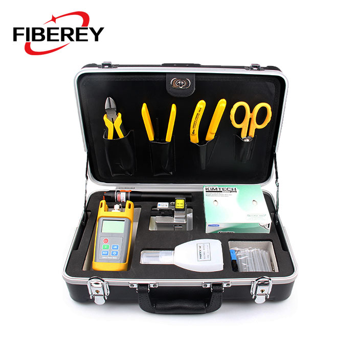 FTTH Handheld Fiber Optic Cold Junction Splicing Termination Tool Set Kit with OPM and VFL