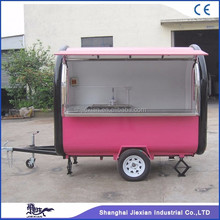 2017 JX-FR250B widely popular street food vending hand push food cart for sale