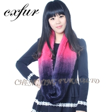 CX-S-158B Luxuriant In Design Scarf Elegance Girls Real Mink Fur Scarves Scraft