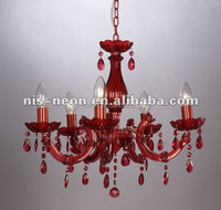 2014 new red crystal chandelier NS-120097R