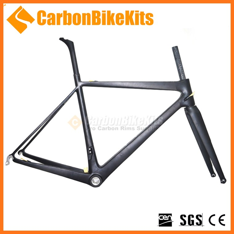 CarbonBikeKits 700C carbon bicycle frame BSA/BB30/PF30 carbon road bicycle frame braze-on chinese carbon bike frame CFM186