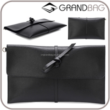 Wholesale Fashion Design Genuine Saffiano Leather Lady Envelope Bag Clutch Bags for woman