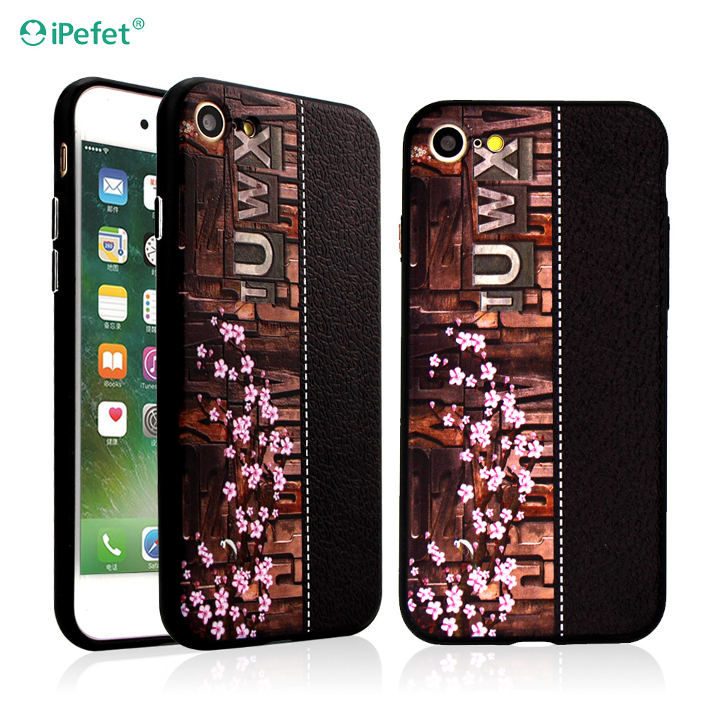 For Apple phone case Custom print 3D phone cover for iPhone 7, TPU PC case