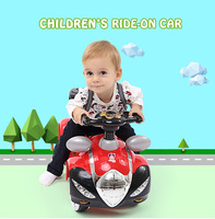 Pe Plastic Type Lights And Sounds Baby Big Red Car Ride On