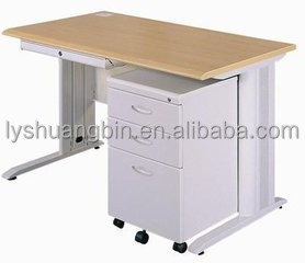 Single person iron computer desk/Cheap steel metal office computer desk table