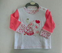 Best selling 100% cotton long sleeve fashionable baby t-shirt, baby clothing