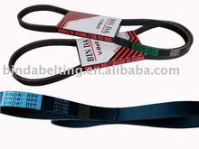 Fan belts/V-ribbed Belts for automobile