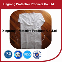 Disposable Non-woven Blue Isolation Gown