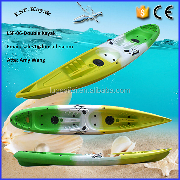 Double plastic fishing kayak for 2 person buy 2 person for Double fishing kayak