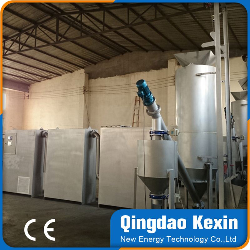 modular designed biomass briquette gasifier power generation for cooking