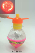 Kids Toys Flashing Peg-top, Wind Up Toy Plastic LED Spinning
