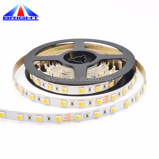 CCT led temperature control Epistar SMD5050 led strip led bi color dimming lighting