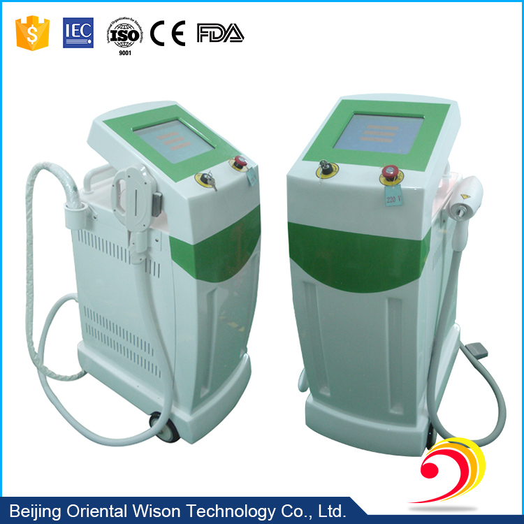 Multi-functional beauty equipment E light (IPL +RF)+ RF+ Nd yag laser fat removal skin care machine