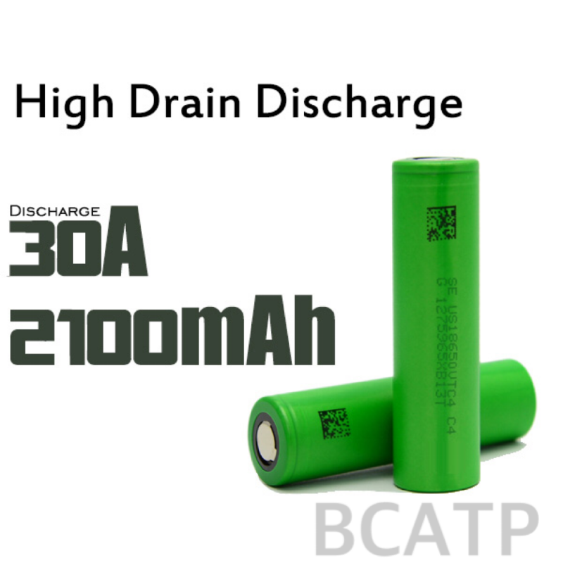 30A discharging rate rechargeable battery for Sony VTC4 18650 lithium battery 2100mah cell