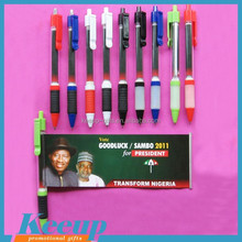 Promotional advertise banner ballpen, retractable pulled out ballpoint pen