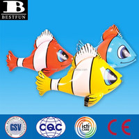 custom cheap kids inflatable clown fish nemo plastic animals toys fun garden pool toys great pool beach garden toys from China