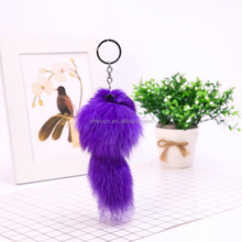 Really small fox plush rabbit fur plush bag pendant pendant mobile phone car accessories bunny keychain for women