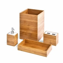 Morden Bamboo bathroom accessory and Vanity Set