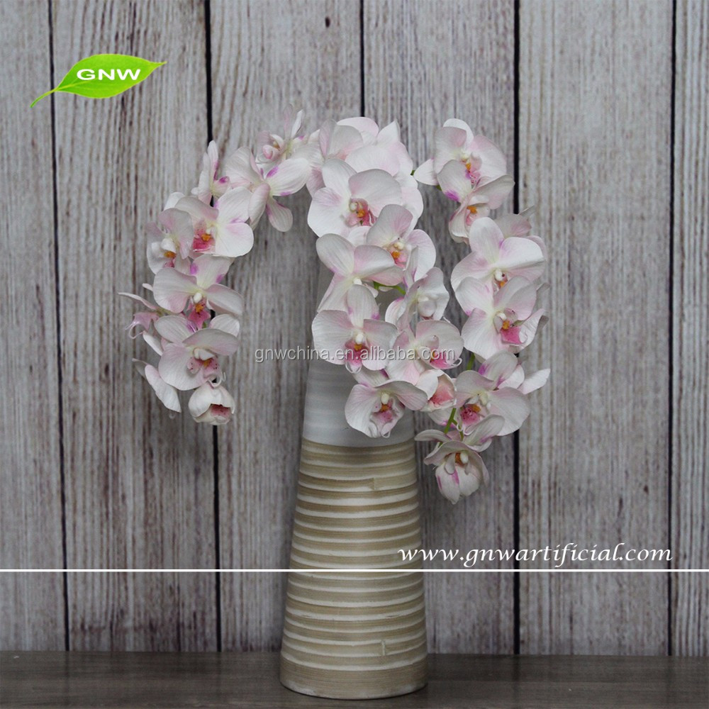 GNW FL-OK72-30-11-LX Long stem wedding silk artificial orchid flowers