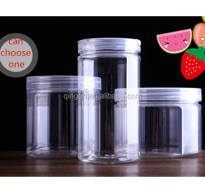 Latest Fashion 300ml Food Containers Clear PET Plastic Honey packaging jar bottles 10oz