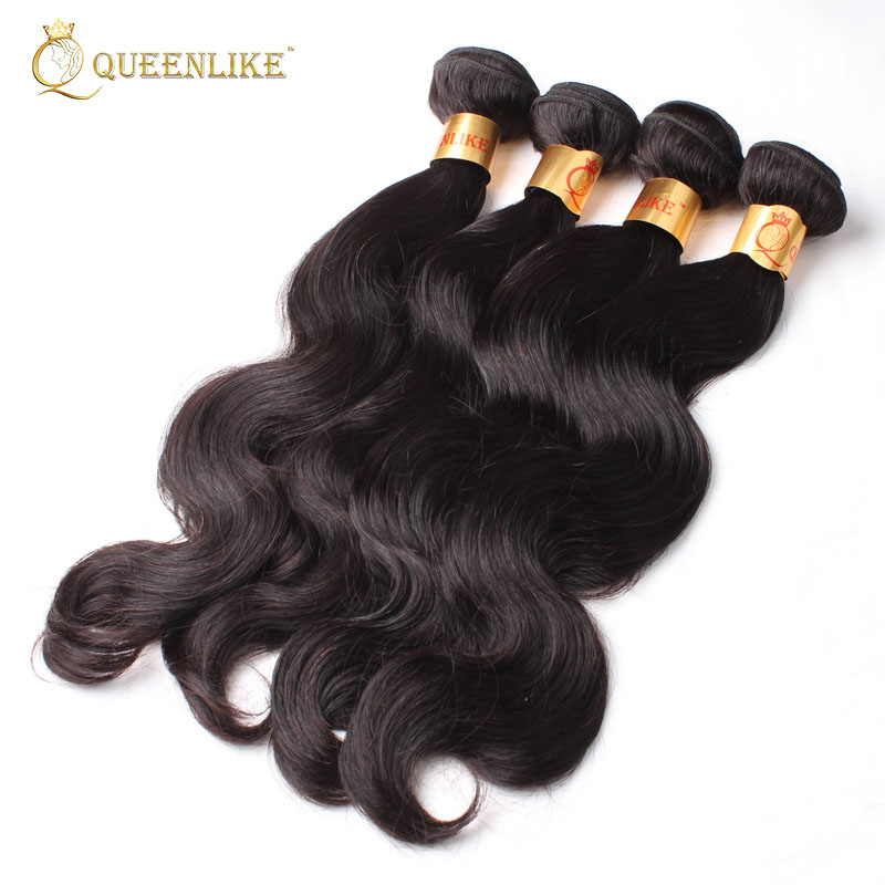New raw virgin natural body wave Brazilian human hair weave private label human hair