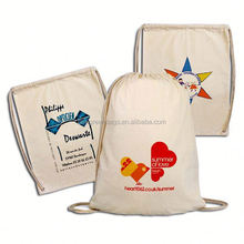 Eco-friendly promotional cotton drawstring bag