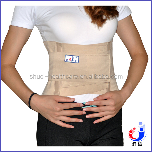 Back pain relief orthopedic back support brace with reinforcing belt waist trimmer belt(YW-01E)