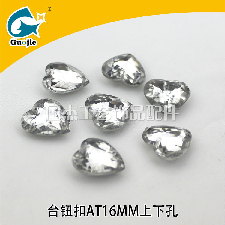 Guojie brand yiwu custom Wholesale Decoration Embellishment Acrylic Rhinestone Buttons