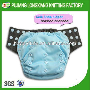 happy flute new style baby cloth diaper, bamboo charcoal diaper