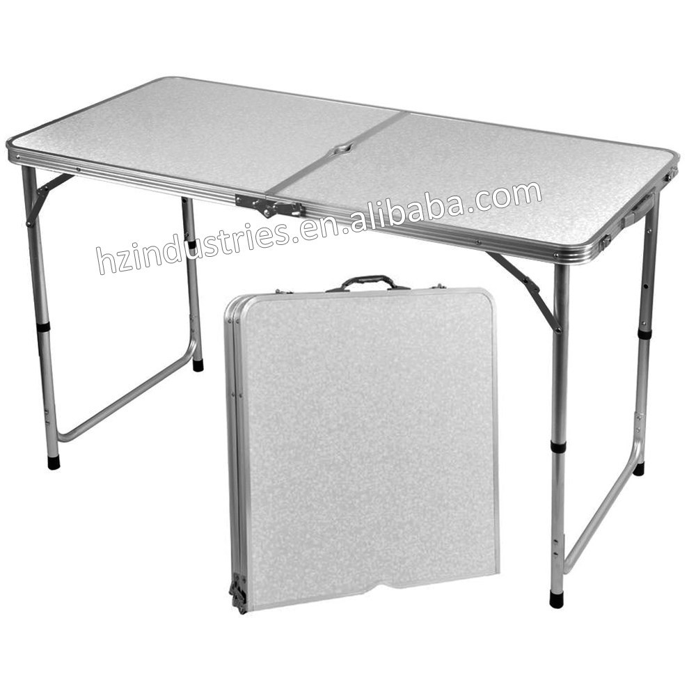 Outdoor aluminum folding picnic table with umbrella for for Outdoor tables for sale