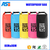 Promotional outdoor dry bag 2L/5L/10L/15L/20L/30L 500D PVC Tarpaulin waterproof mobile phone bag