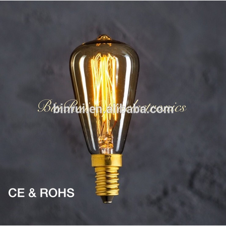New product Manufacturer ST48 Decorative Filament Squirrel Cage Edison Light Bulb