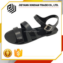 Classic Transparent PVC Import Jelly Lady Sandal Shoes From China