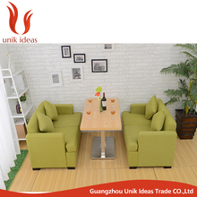 Commercial Furniture Fabric Booth Sofa Set For Restaurant